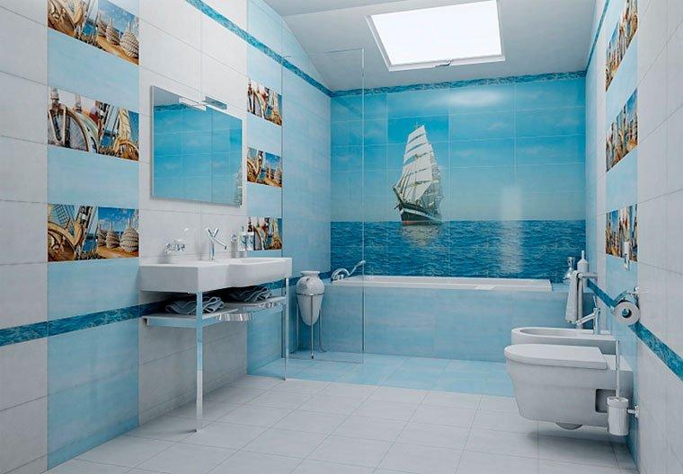 ванная с кораблем
