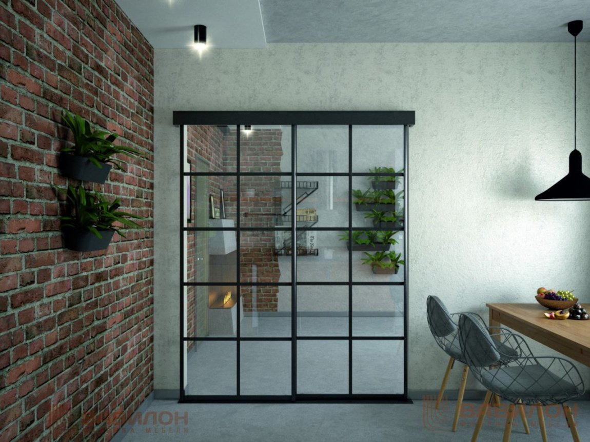 двери из стекла интерьер