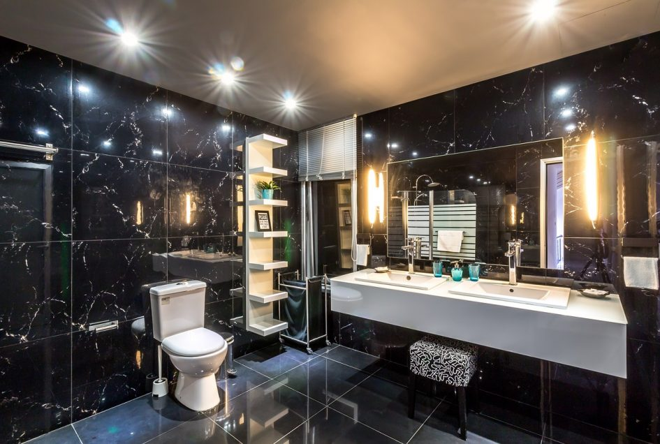 свет в ванной центральный