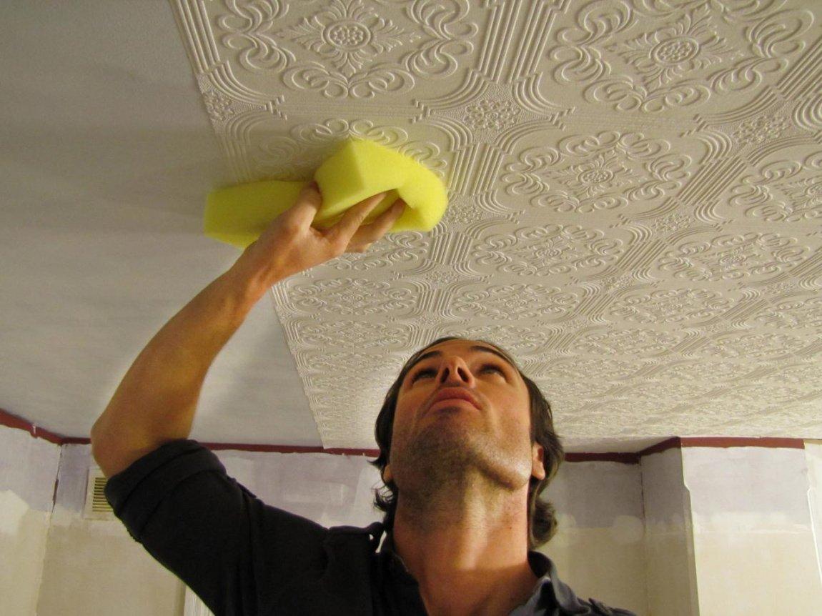 репортаж как обклеить потолок разными обоями фото этот раз